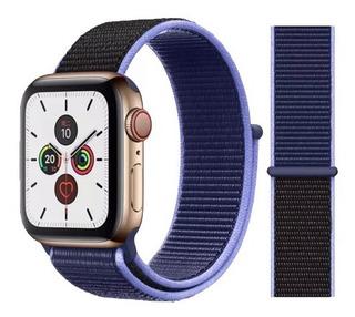Pulseira Nylon Loop Apple Watch 38 40 42 44 Mm Series 1-5