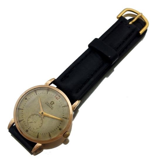 Relógio Pulso Masculino Omega Automático Em Ouro 18k J22424