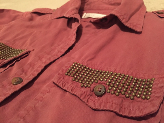 Camisa Jeans Rosa Oscuro C/ Tachas [ Kosiuko ] - Talle S / M