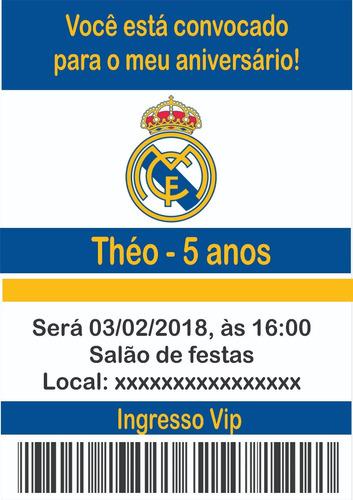 Imagem 1 de 1 de Convite Digital - Envio Grátis - Tema Real Madri