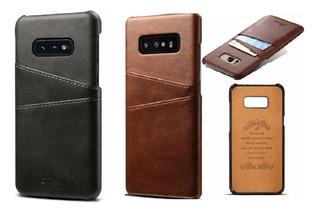 Capa Carteira Case Galaxy Note 10 S10 S9 Plus Couro Premium Vintage Cartões