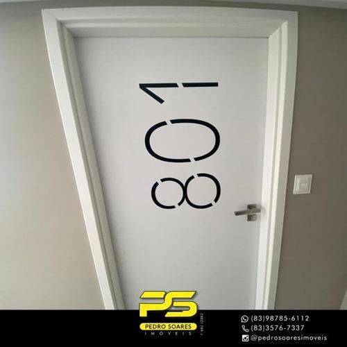 (oportunidade)  Apartamento Com 2 Dormitórios À Venda, 60 M² Por R$ 420.000 - Manaíra - João Pessoa/pb - Ap4245
