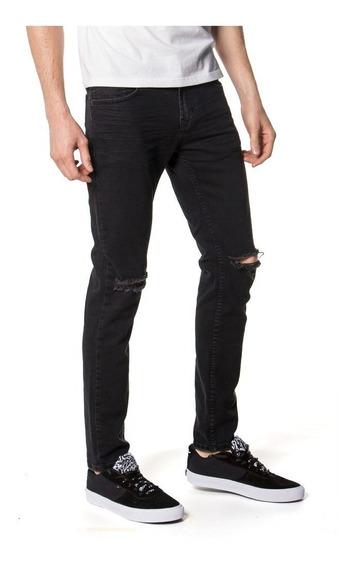 Pantalon Jean Rusty Galaxie Negro Hombre