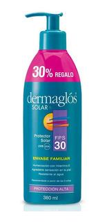 Dermaglós Protector Solar Fps 30 Emulsión Pieles Sensibles 380ml