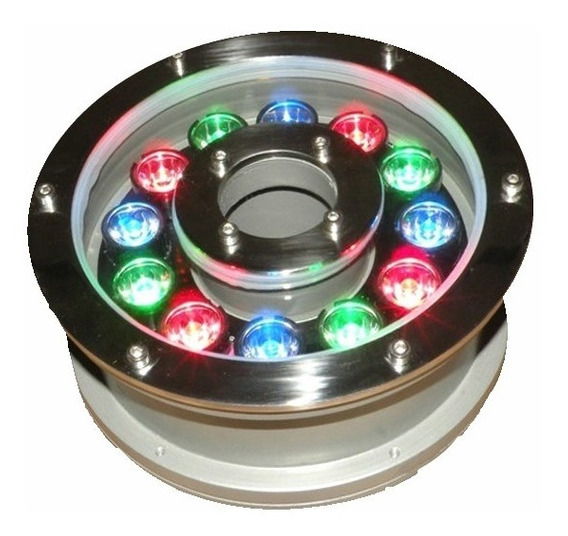 Lampara Led Rgb Sumergible Para Fuente 12w 24v