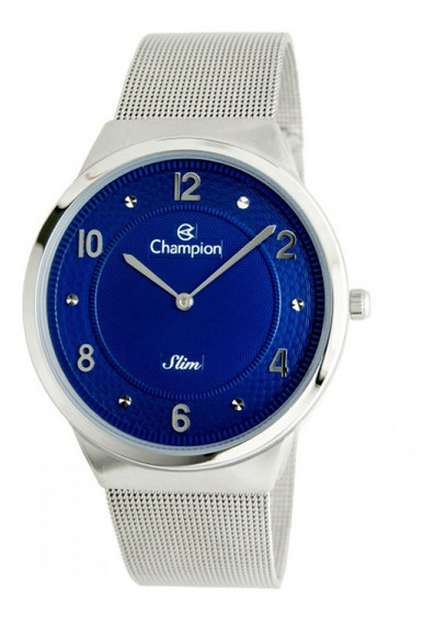 Relógio Champion Masculino Ref: Ca21786f Slim Prateado