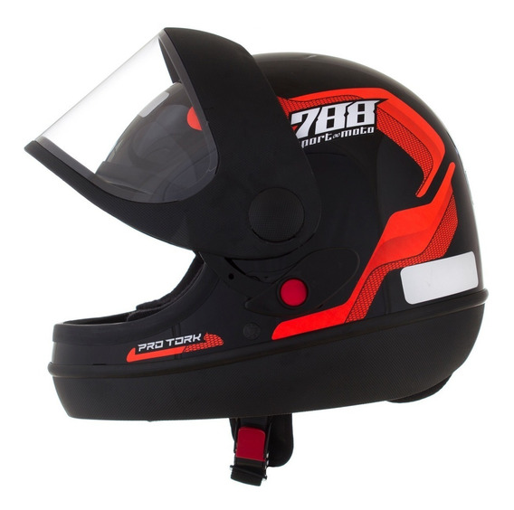 Capacete Pro Tork Fechado Automatico Sport Moto 788