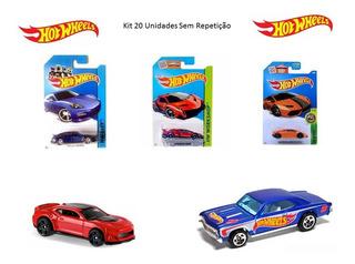 Kit 20 Carrinhos Sortidos Hot Wheels - Modelos Não Repetidos