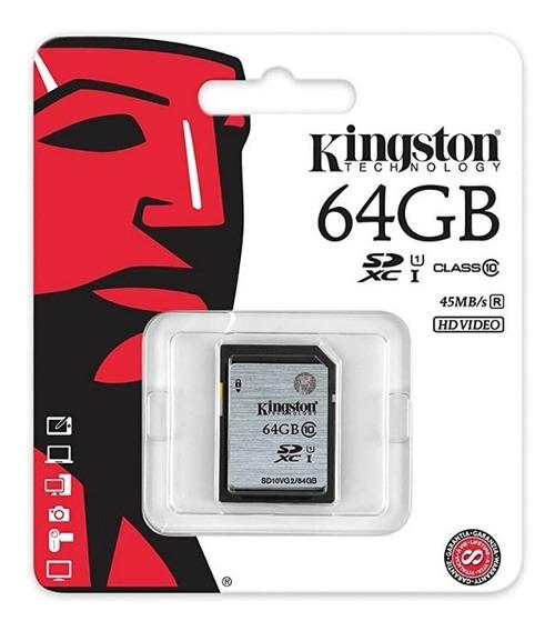 Cartão De Memoria Sdxc 64gb Classe 10 Kingston