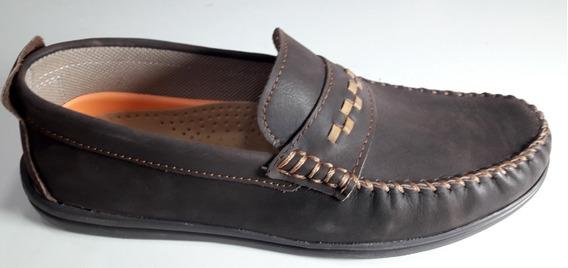 Zapato Cuero Hopper Art 881 Color Marron