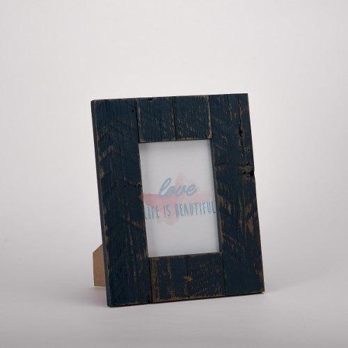 Imagen 1 de 4 de Portaretrato Nautico Azul Chico - Azul Obscuro Këssa Muebles