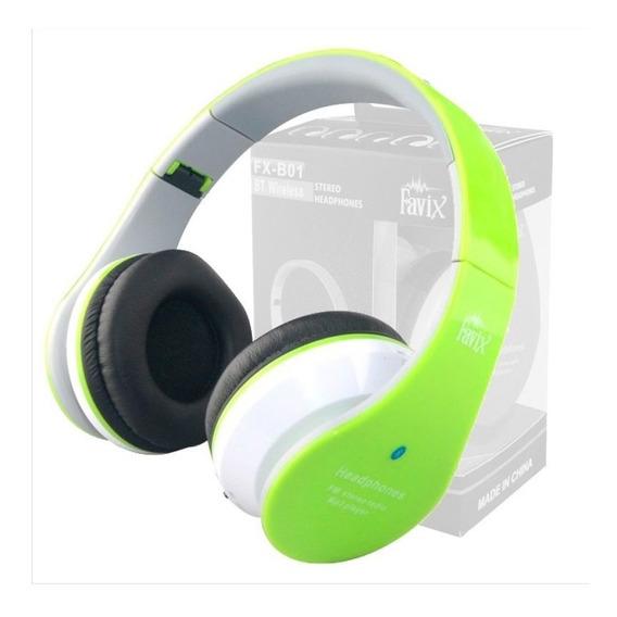 Bluetooth Fm Entrada Cartão P2 Fone Ouvido Favix B01 Sem Fio