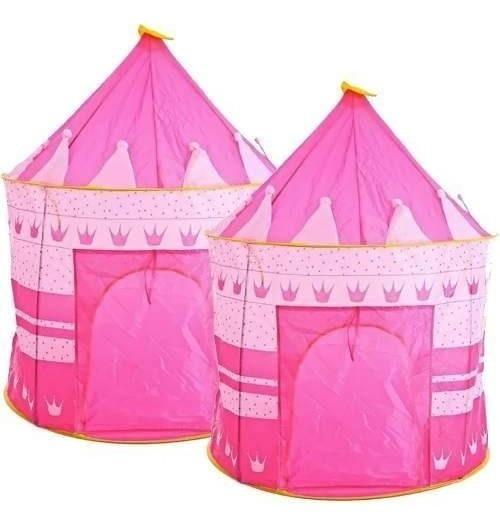 Pack 2 Carpa Castillo Para Niñas Y Niños Rosada