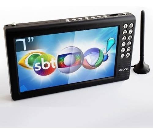 Tv Digital Portátil 7 Polegadas Antena Fotos Frete Grátis