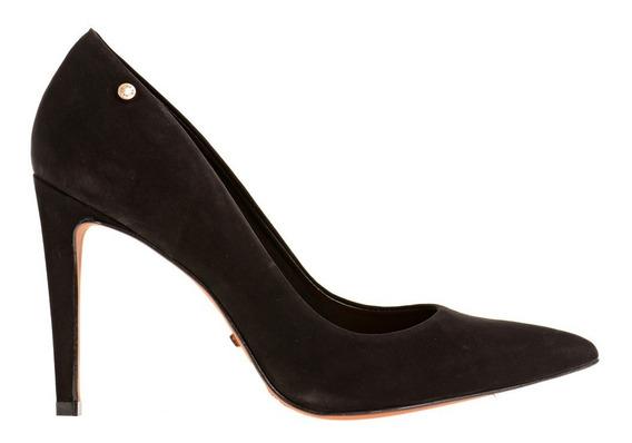 Stilletos Pompei Prune Negro Zapato Mujer