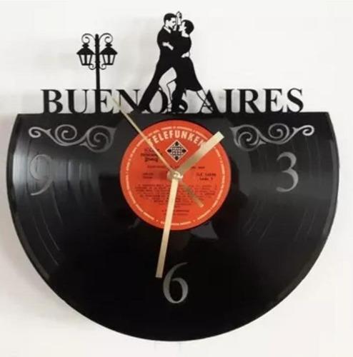 Reloj De Pared Vinilo Musicos