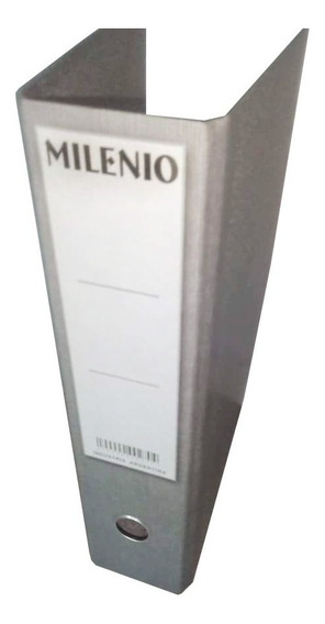 Bibliorato Oficio Lomo 8 Cms Palanca Niquel