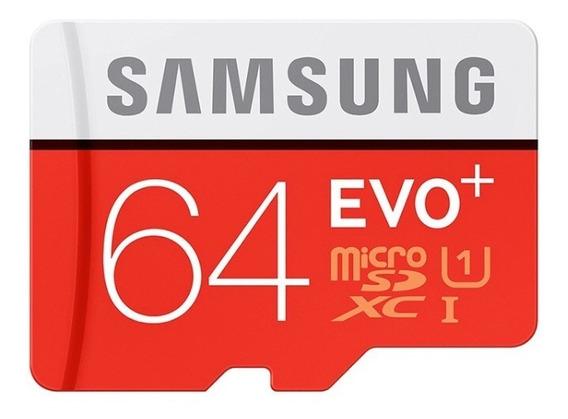 Cartão Micro Sd - 64 Gb - Sansung Evo Plus Classe 10- 80mb/s