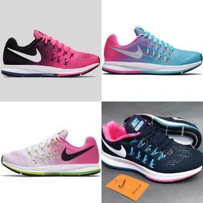 *~*zapatos Nike Zoom Pegasus 33 Azul Rosados Mujer*~*