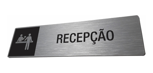 Placa Recepção Identificação Sala Departamento Personalizada