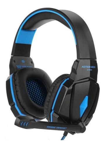 Imagen 1 de 3 de Auriculares gamer Kotion Each G4000 negro y azul