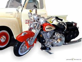 Chevrolet Pickup 3100 + Harley Davidson Fls Heritage 1:24 Hd