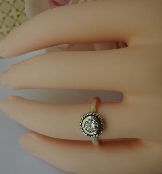 Anel De Prata 925 Zirconia Compatível Pandora Aro 18 Anp 59