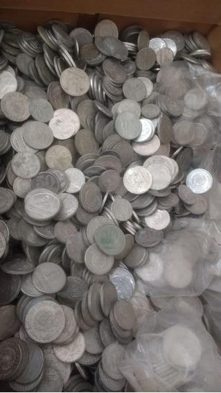 1 Kg Moedas De Alumínio Lote Nacionais Antigas Com Raras