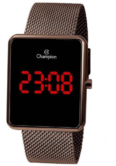 Relógio Champion Unissex Digital Led Ch40080r Marrom Oferta