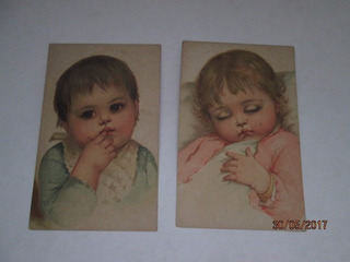 Va-008 Postal Raro De Criança Antigo, 2 Unidades