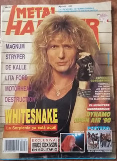 Revista Metal Hammer # 33 -sin Poster-destruction/whitesnake