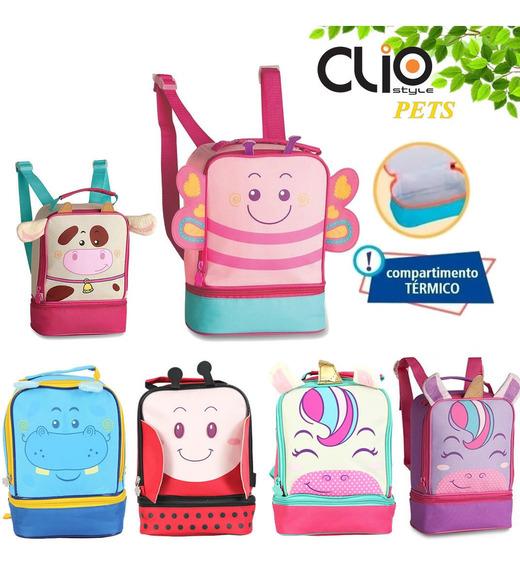 Lancheira Infantil Térmica De Animais Zoo Clio Pets 2020