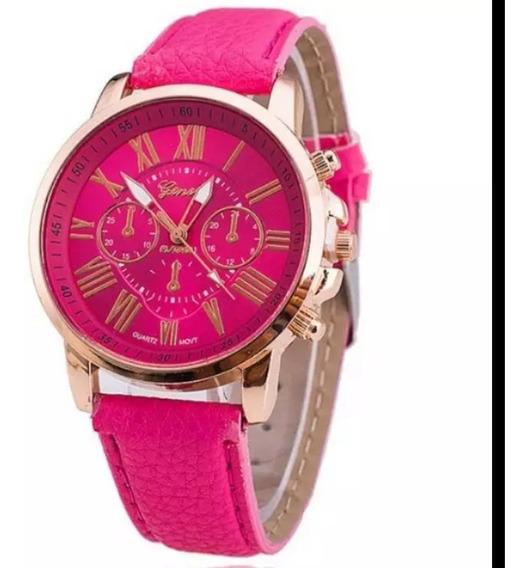 Relógio Feminino Fashion Casual Pulseira De Couro