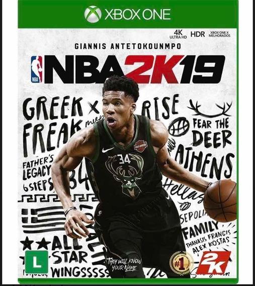 Nba 2k19 Xbox One Lacrado Pronta Entrega Midia Fisica