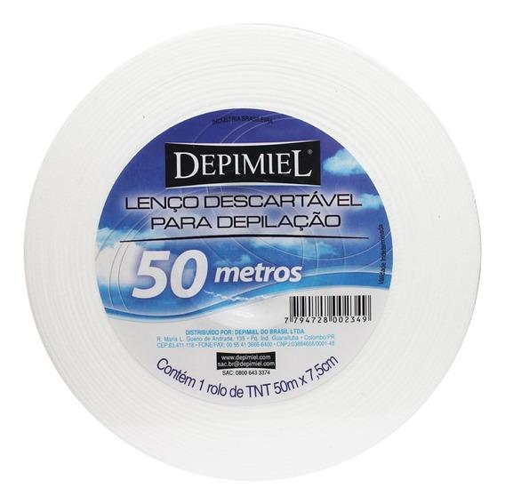 Lenço Descartável Depilação Depimiel Rolo 50 Metros Com 5 Un