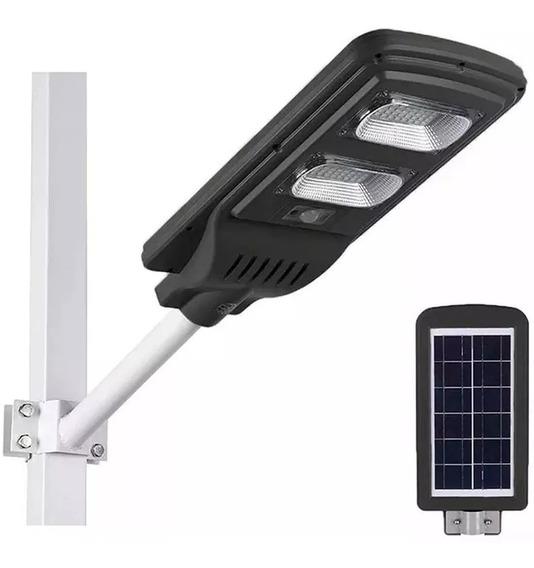 Luminária Pública Poste Energia Solar 40w Sensor E Controle