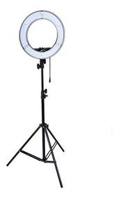 Kit Iluminador Led Ring Light Rl-18 Foto Make C Tripé Greika