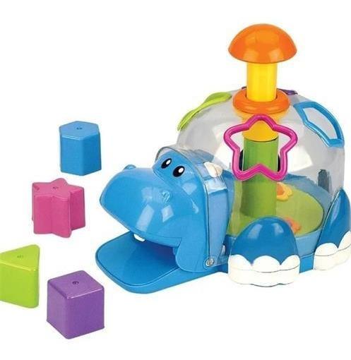 Juego Juguete De Encastre Hipopotamo Ok Baby Colores Cuotas