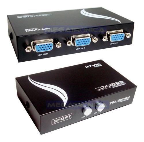Switch Selector Vga 2 Entradas 1 Salidas Db15 Excelente Led