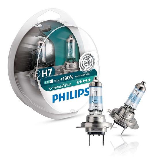 Par De Lâmpada Automotivo Philips X-treme Vision H7