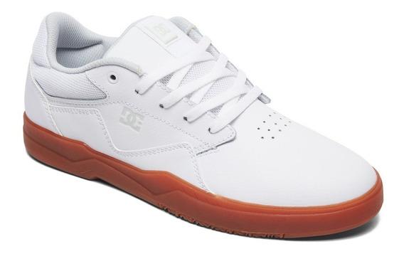 Zapatillas Dc Shoes Mod Barksdale Blanco Marron!!!
