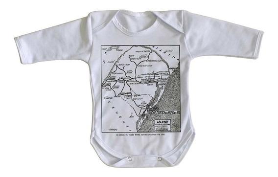 Body Bebê Luxo Linhas Férreas Rio Grande Do Sul Antigo Trem