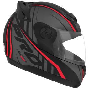 Capacete Para Moto Evolution G6 Neon 60 Preto/vermelho Proto
