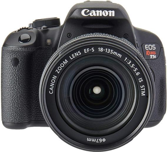 Câmera T5i Canon + Case + Lente 18-135mm E Ef 50mm