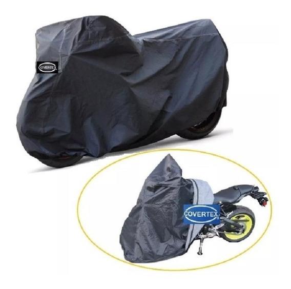 Funda Cubre Moto Premium Gruesa Impermeable Felpa Covertex