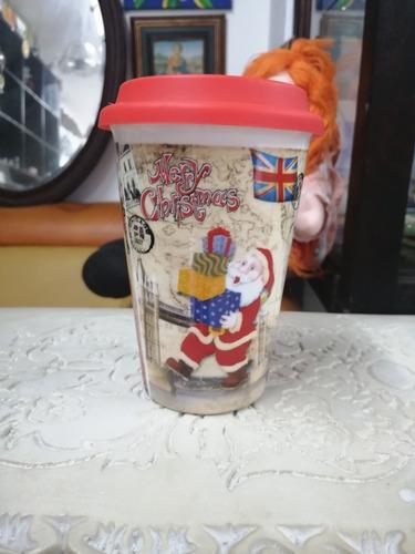 Mug Con Tapa Navideño Londinense