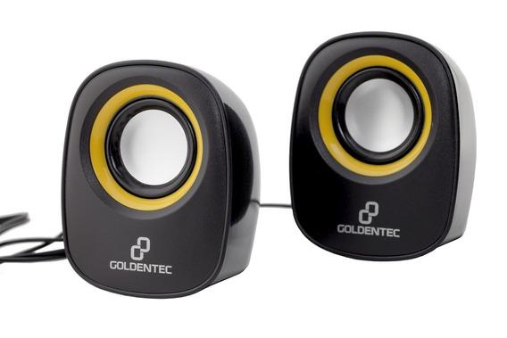 Caixa De Som 6.0w Rms Goldentec Gt Music Preto/laranja