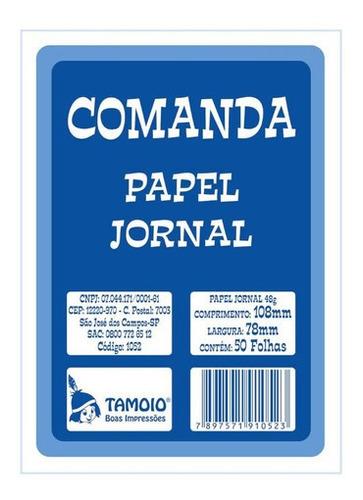 Imagem 1 de 2 de Comanda Jornal Tamoio 50 Folhas C/20 Unidades