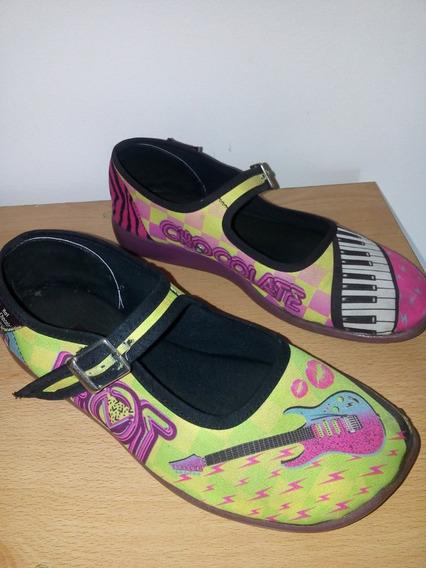 Zapatos Chocolaticas Hot Desing Niña Music Talla 33 15ver D