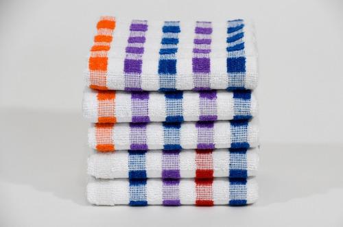 Paquete De 15 Secadores De Cocina Multicolor 100% Algodón